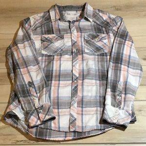 Men BKE plaid shirt